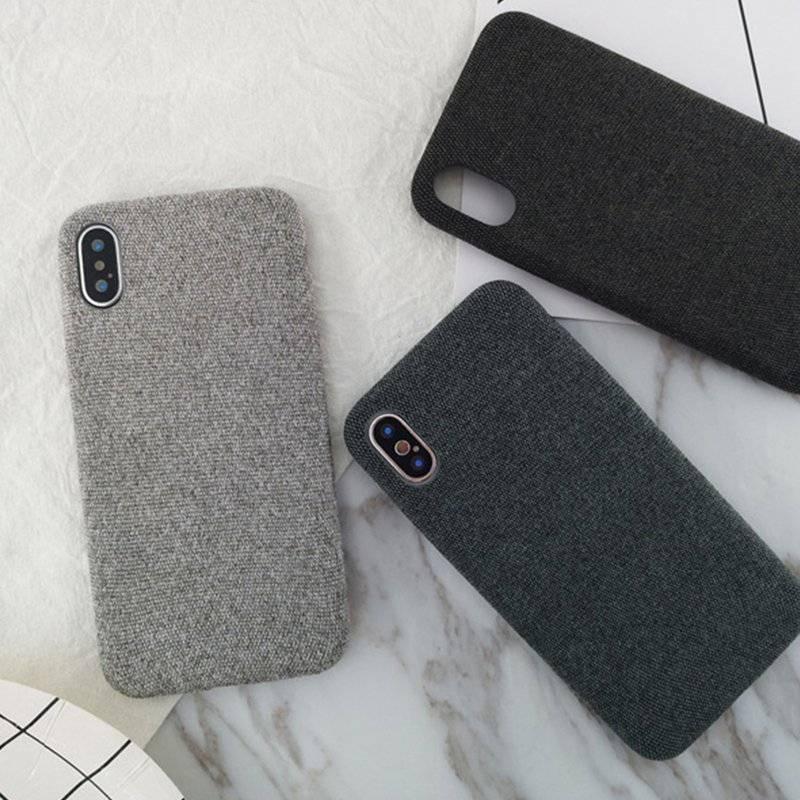 Burlap Textured Soft Phone Case for iPhone
