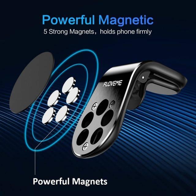 Magnetic L-Shape Car Phone Holder