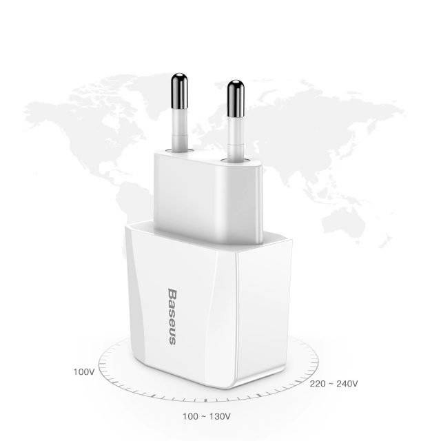 White Plug with Two USB Ports