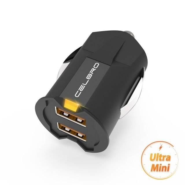Futuristic Design Ultra Mini Phone Car Charger