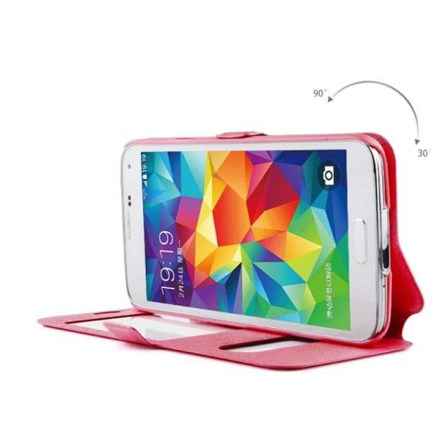 Flip Window Phone Cases for Samsung