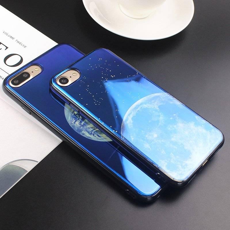 Glossy Moon Printed Phone Case