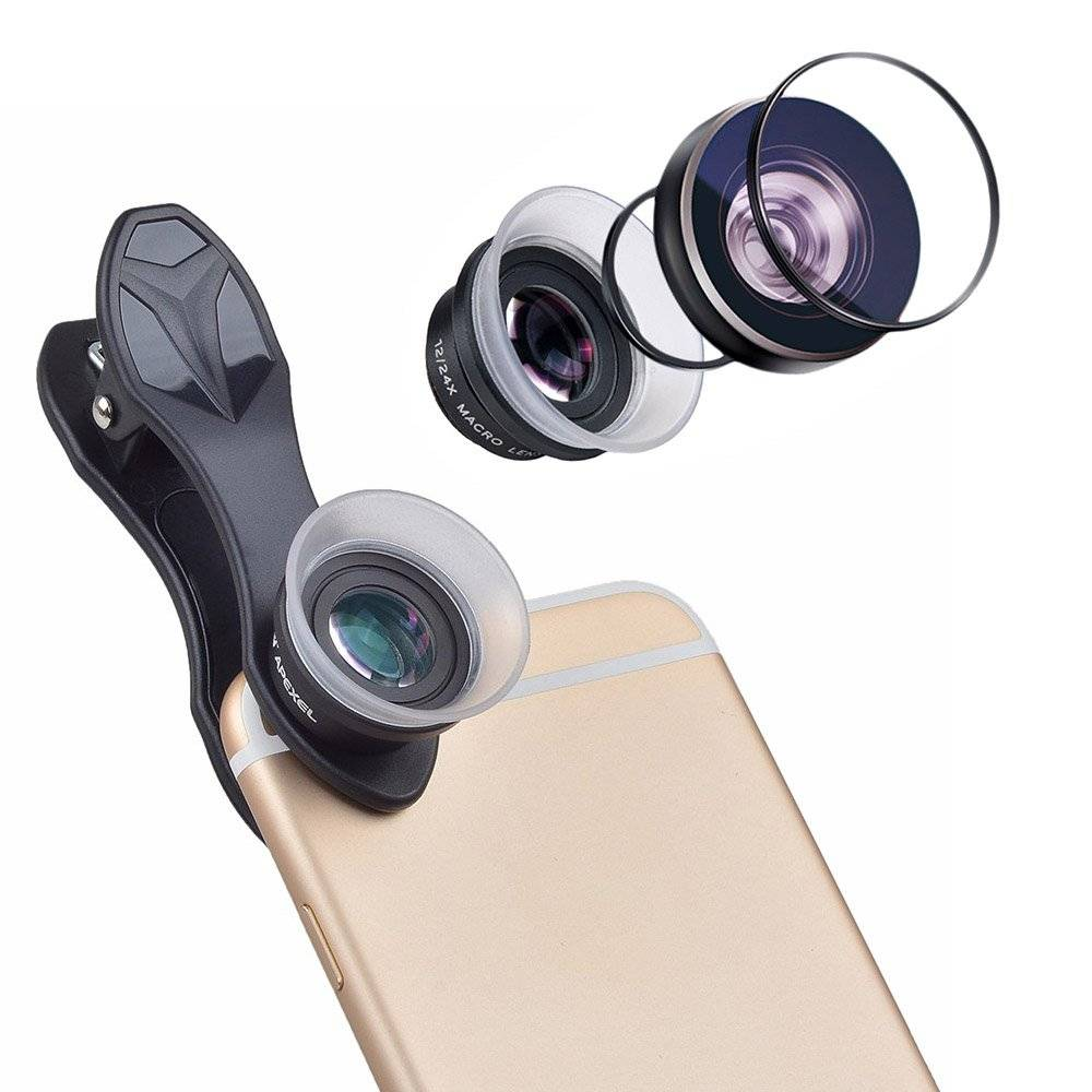 Super Macro Aluminum Camera Phone Lenses with Clip