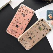 Stars and Space Printed Soft Transparent Phone Case