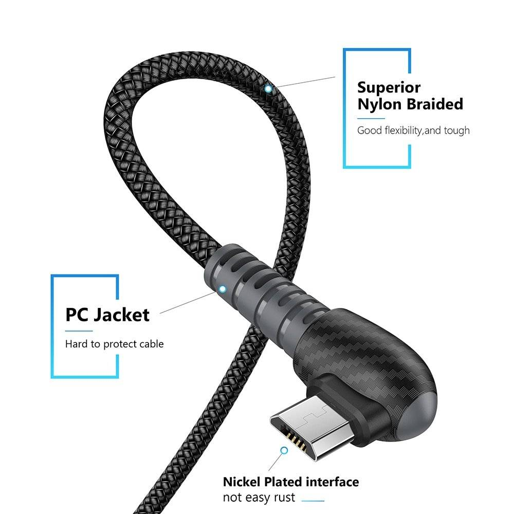Nickel Plated Micro USB Cable Charger
