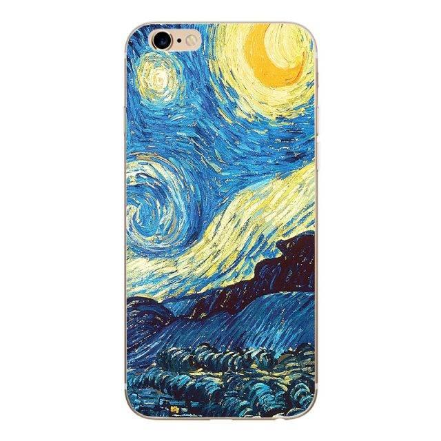 Silicone Van Gogh Style Phone Cases