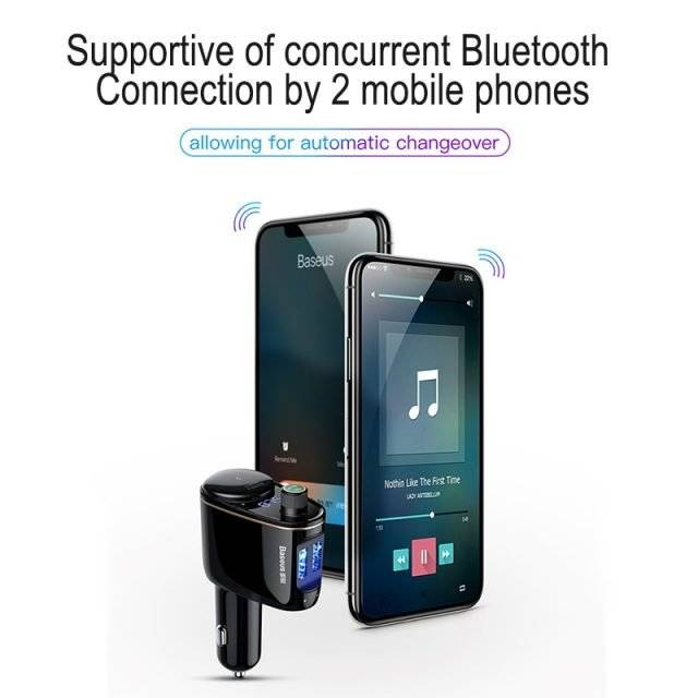Dual USB Phone Car Charger with FM Transmitter