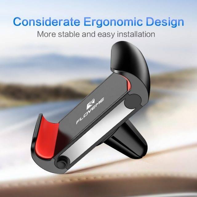 Ergonomic Design Air Vent Car Phone Holder