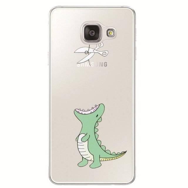 Various Lovely Prints Transparent Samsung Cases