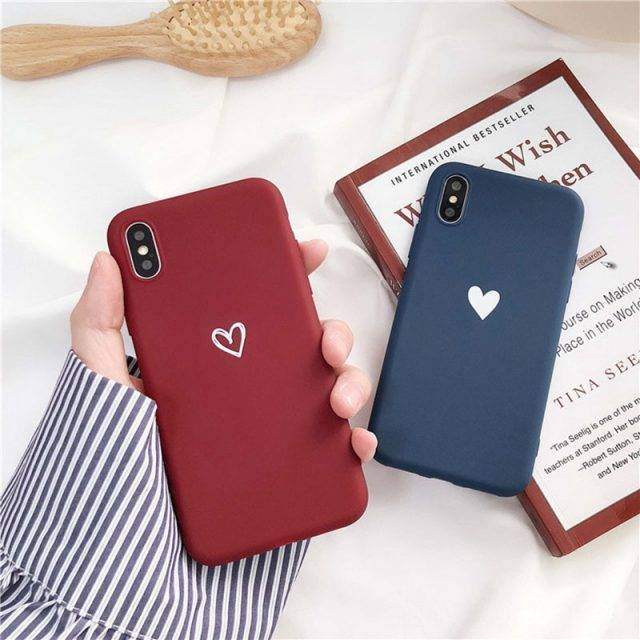 Heart Patterned Soft Phone Case for iPhone