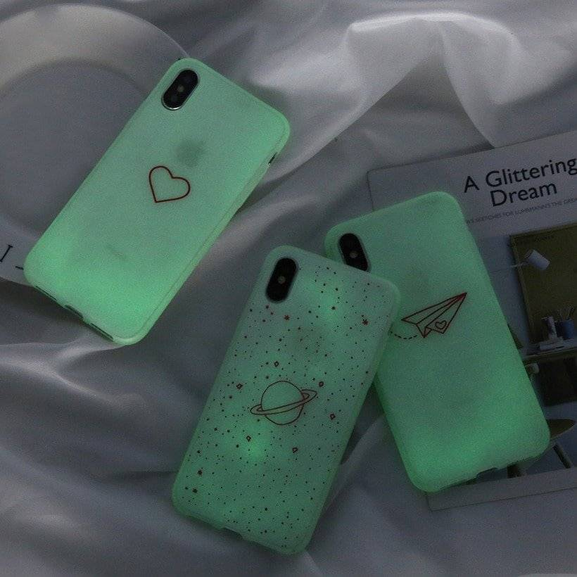 Fluorescent Soft Phone Case for iPhone