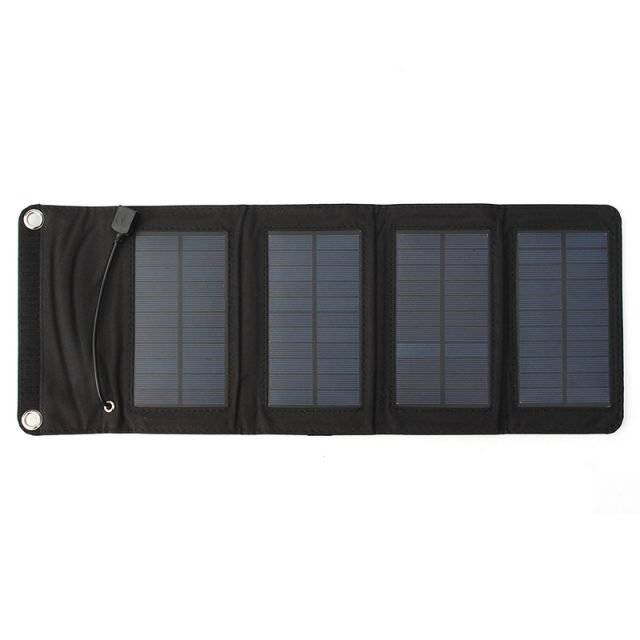 USB Foldable Solar Power Bank Charger