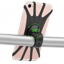 Silicone Bicycle Phone Holder with 360 Degree Rotation