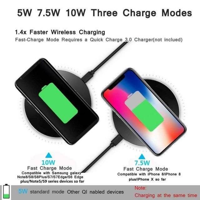 Fast Qi Wireless Charger Pad for Mobile Phone