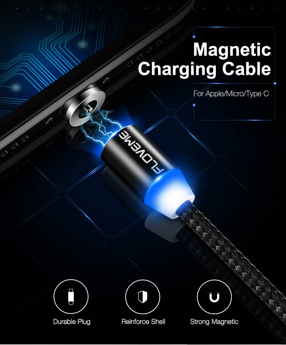 Magnetic Design Multi Type Cable with LED Indicator