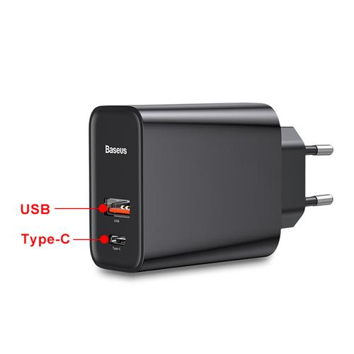 EU Plug with USB Ports