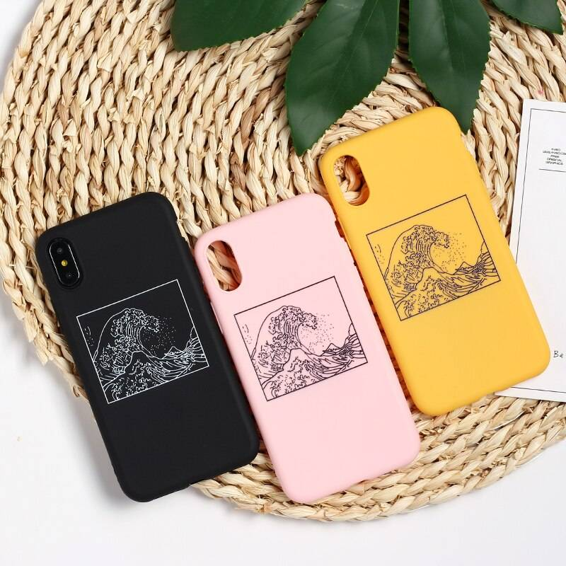 Japanese Style Soft Phone Case for iPhone