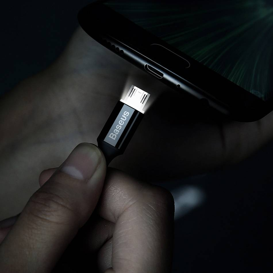 Micro USB Cable with LED Lighting