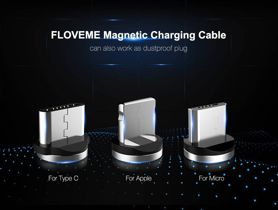 Magnetic Design Nylon Braided USB Cable