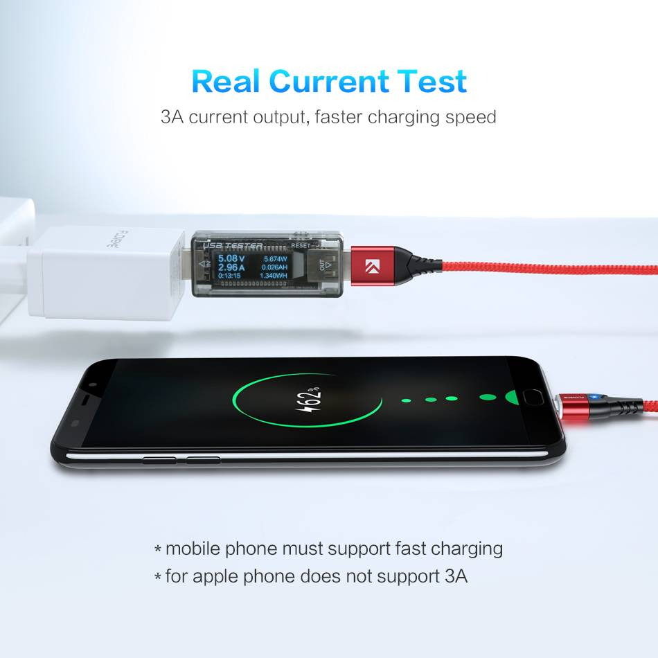 3A Fast Charging Magnetic USB Cable
