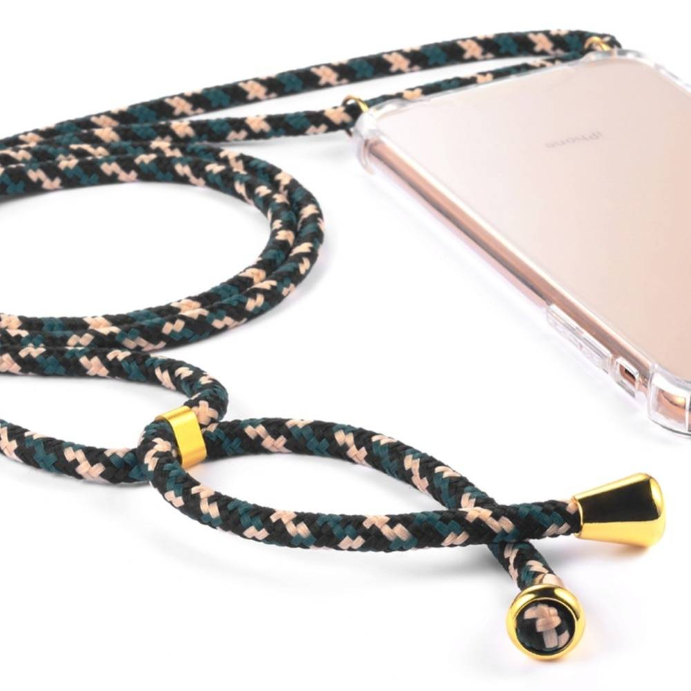 Transparent TPU Case for iPhone with Strap