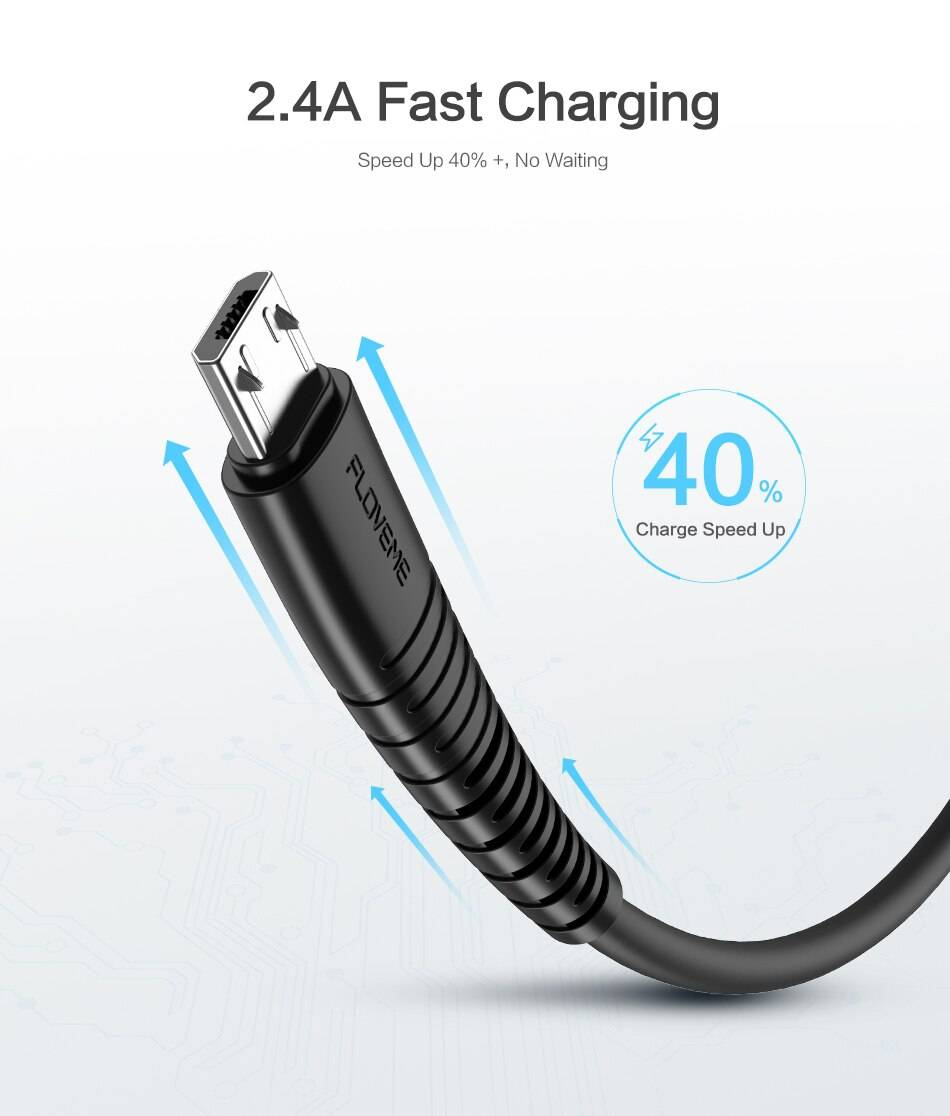 Micro USB 2.4A Fast Charging Cable